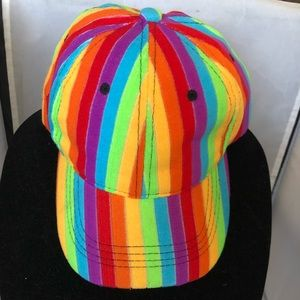 Rainbow baseball cap vibrant color